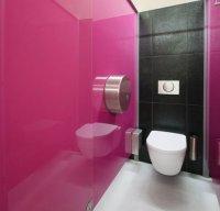 Toaleta, szkło lacobel